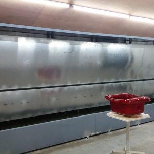 Buồng sơn màng nước 6,6m