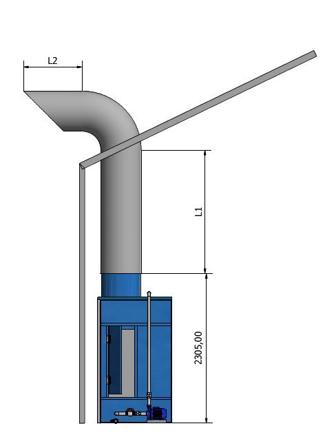 mô hình lắp ống thoát mái buồng sơn